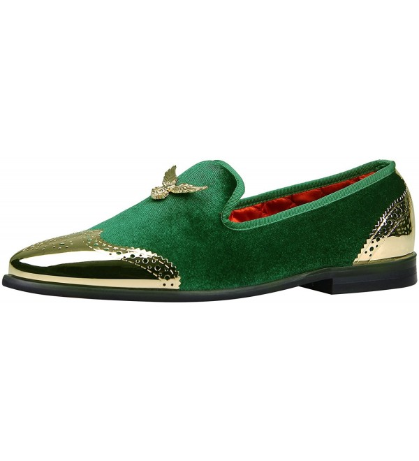 ELANROMAN Buckle Velvet Smoking Slipper