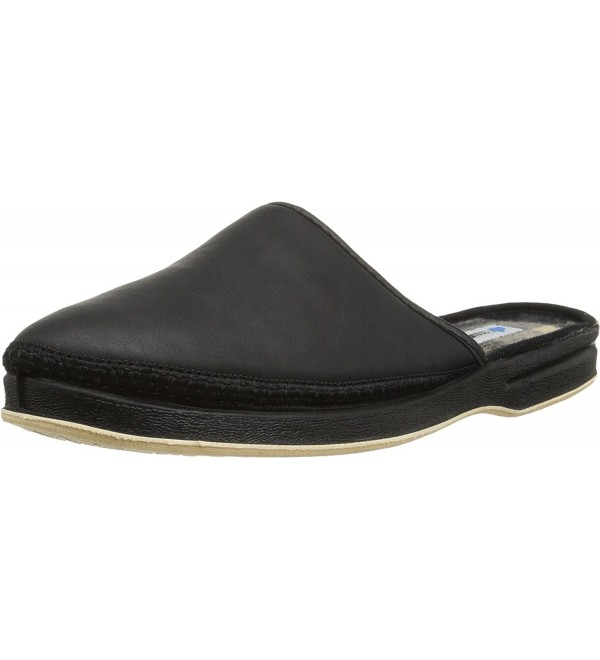 Foamtreads Mens Henry Black Slipper