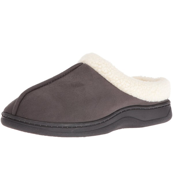 Dearfoams Suede Slipper Pavement Medium