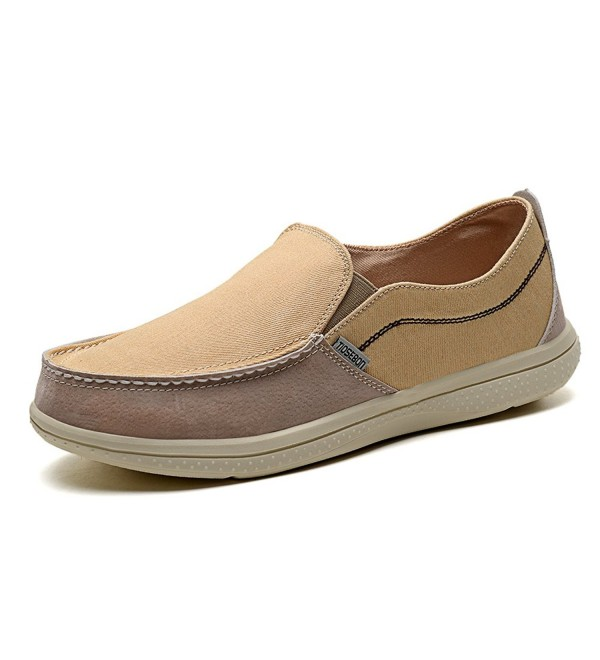 KONHILL Loafers Canvas Casual Driving