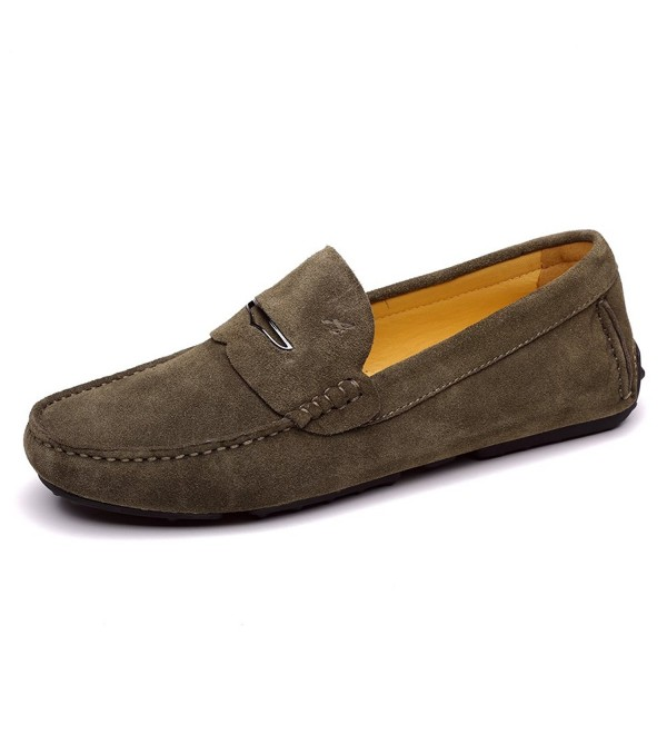 Ausland Leather Moccasin 1181 Armygreen