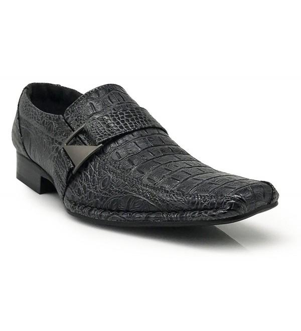 Santcro Crocodile Loafers Elastic Fashion