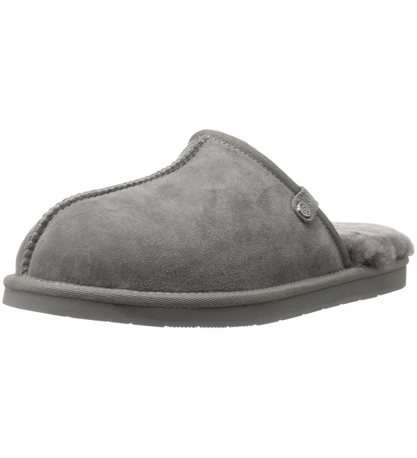 206 Collective Shearling Slipper Charcoal