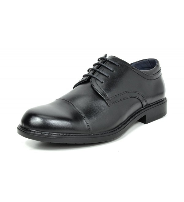Bruno Downing 01 Black Leather Oxfords