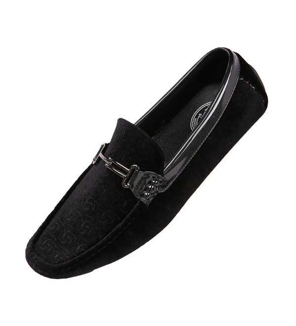 Amali Embossed Velvet Driving Moccasin