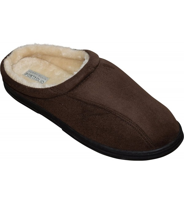 Perry Ellis Microsuede Slippers XX Large