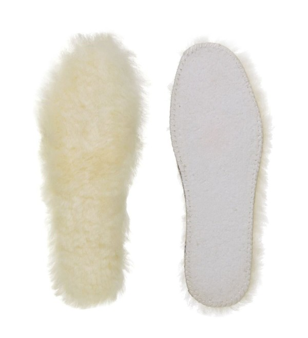 YELLOW Sheepskin Thick Shoes Insoles