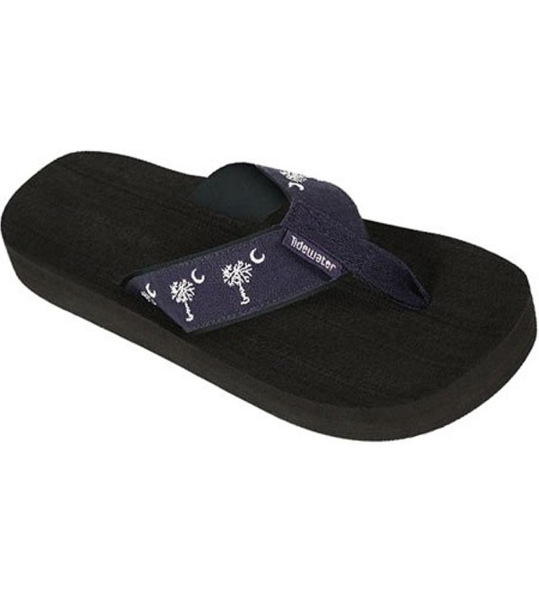 Tidewater Sandals Linen Palmetto White