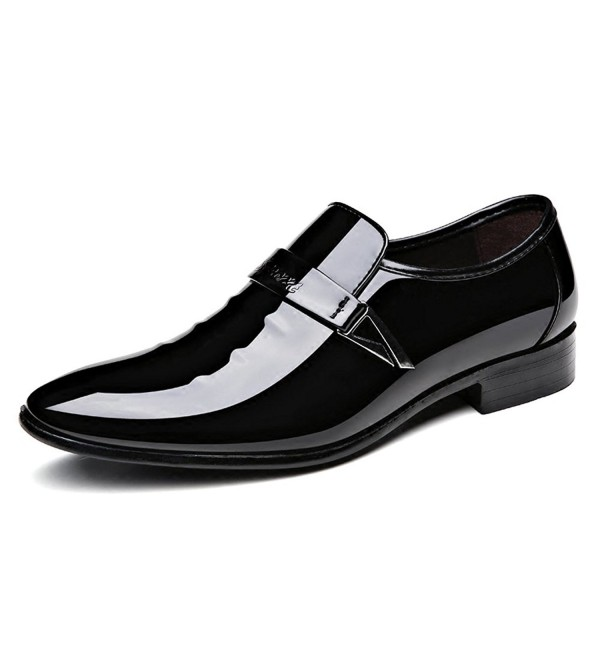 Seakee Pointed toe Tuxedo Casual Loafer