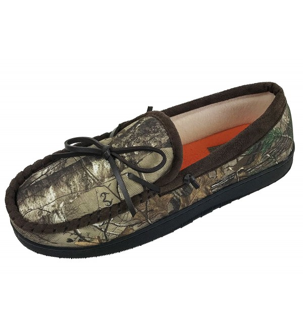 Realtree Nylon Moccasin Slipper Camouflage