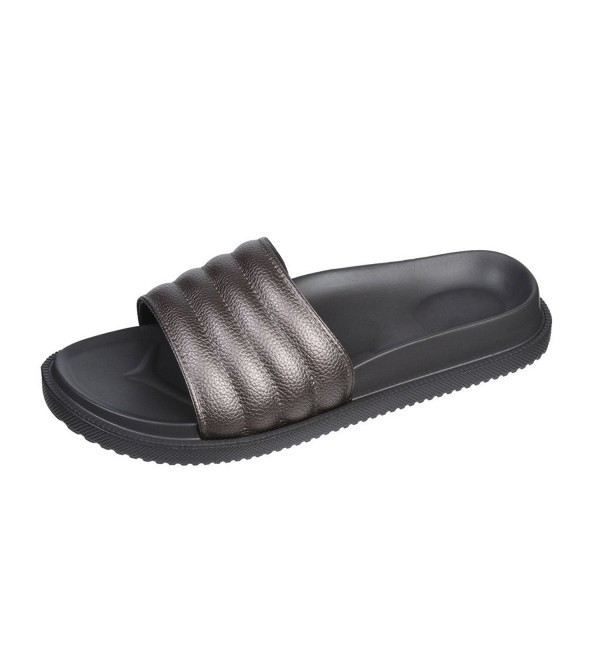 J Fiallo Rippled Overfoot Sandal