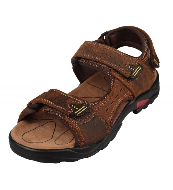 4HOW Leather Sandals Outdoor Casual