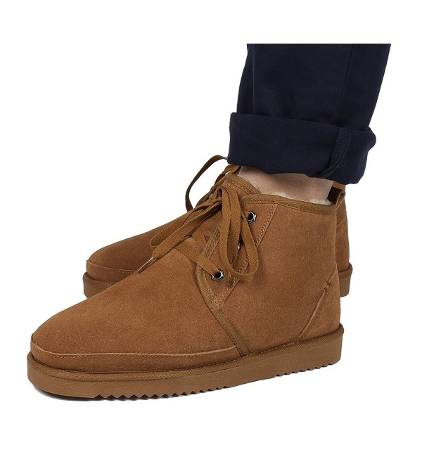 DREAM PAIRS Wolly 01 Chesnut Sheepskin