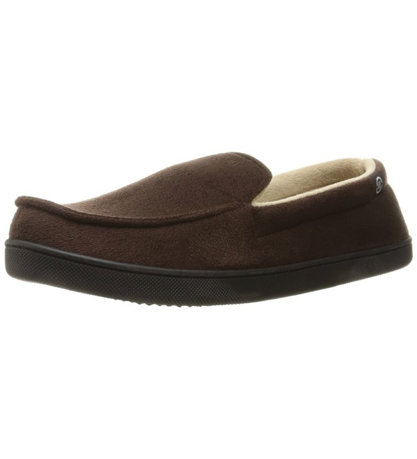 Isotoner Microsuede Moccasin Slippers Chocolate