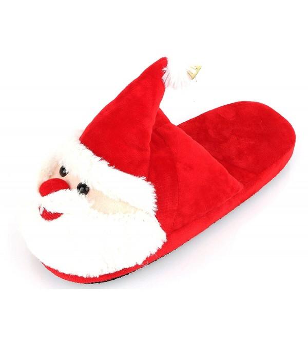 Unisex Christmas Santa Slippers Memory