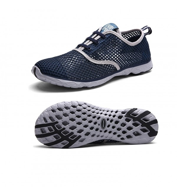 94e23e8ed5b0bb Men's Quick Drying Aqua Water Shoes - Navy - CO186E9LX2L