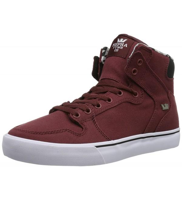 Supra Unisex Vaider Burgundy Sneaker