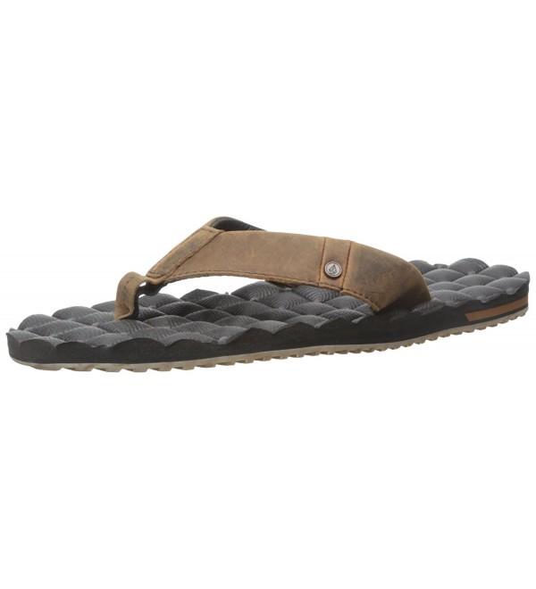 Volcom Recliner Leather Sandal Vintage