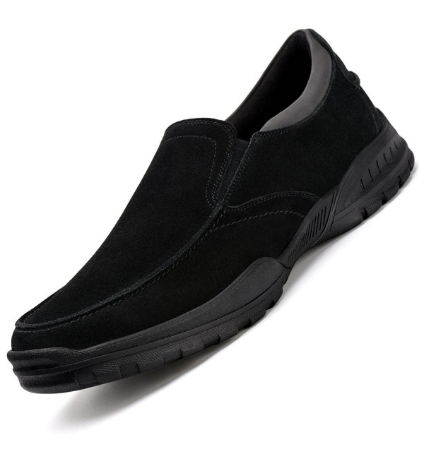 Walking Leather Loafers Resistant Comfort