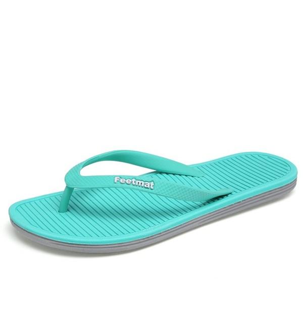 Feetmat Sandals Slippers M017 blue gray 10 5