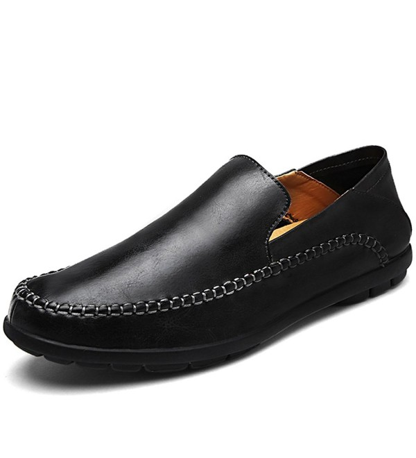 LakeRom Leather Loafers Casual LR81835 Black 45