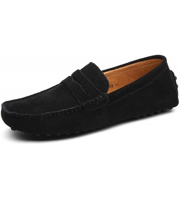 PPXID Leather Loafers Casual Shoes Black