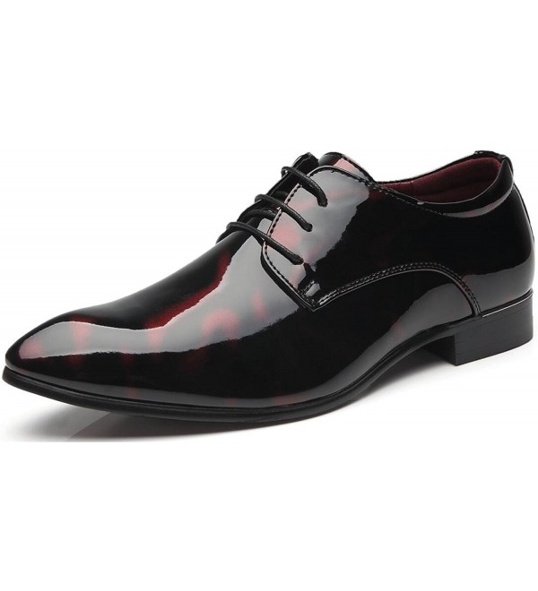 Business Leather Shoes Wingtip Patent Leather