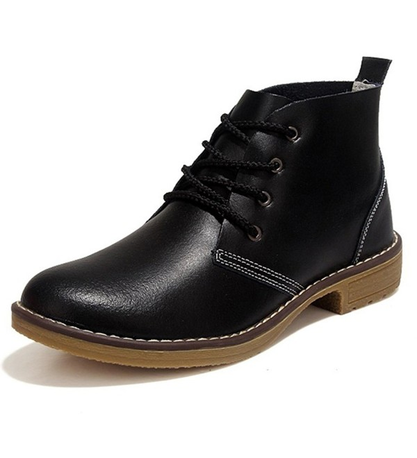 Feetmat Leather Casual Oxfords Booties