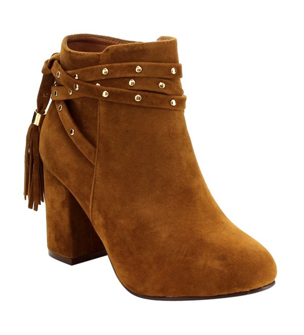 ED11 Womens Studded Strappy Booties