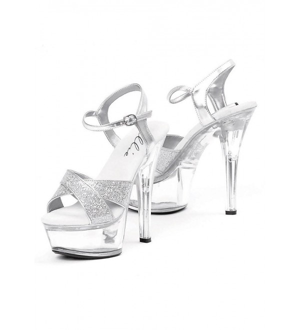 Womens Inch Glitter Sandal Silver