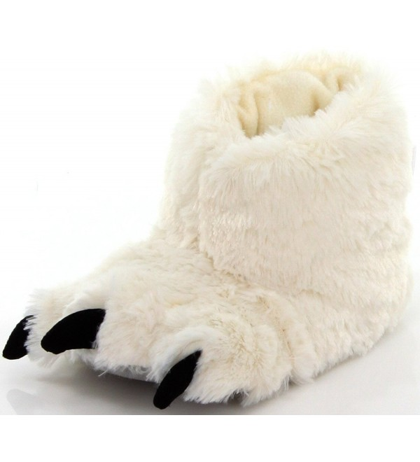 LazyOne White Paw Slippers X Small