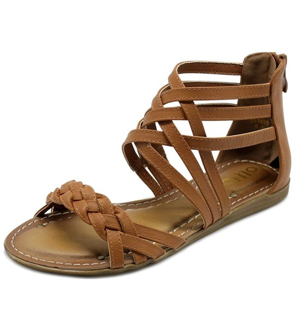 Ollio Womens Gladiator Strappy Closure