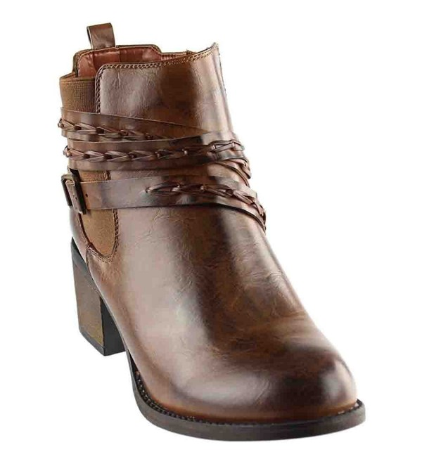 Corkys Womens Leather Ankle Booties