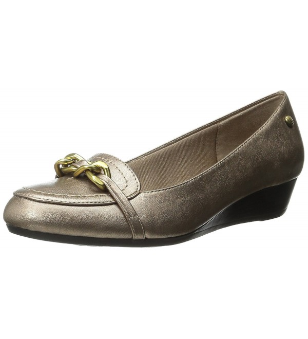 LifeStride Womens Fancy Flat Champagne