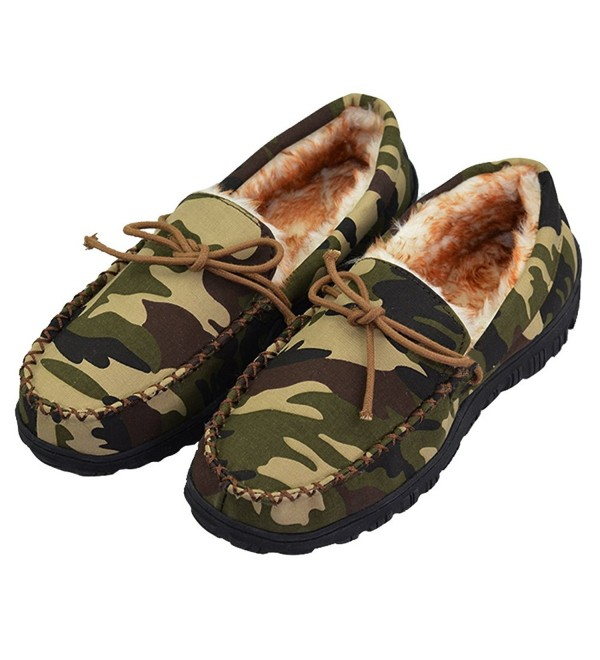 VLLY Microsuede Moccasin Slippers Camouflage