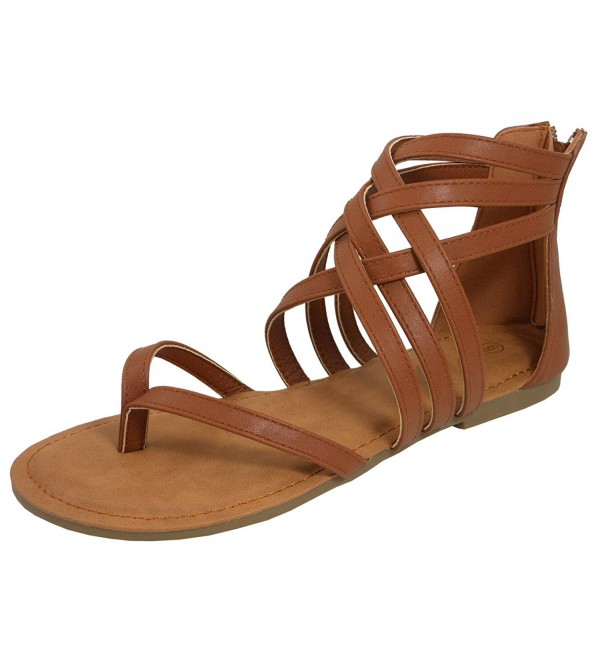 Cambridge Select Crisscross Strappy Gladiator