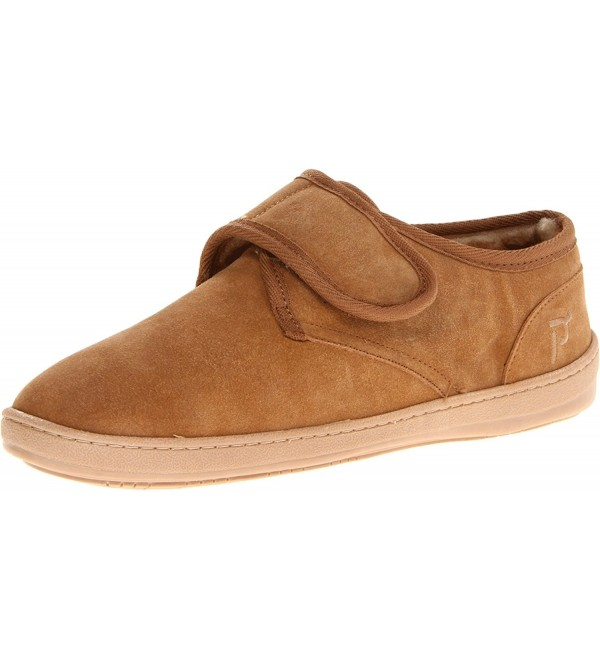 Mens Adjustable Strap Slipper Cinnamon