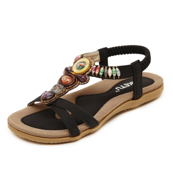 Insun Womens Black Ankle Sandal