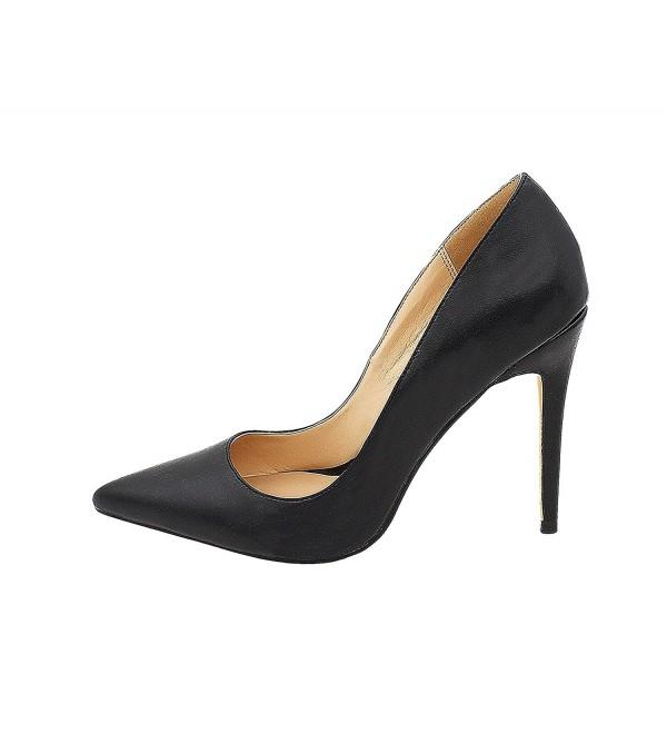 MiWIG Womens Pointy Heels Slip
