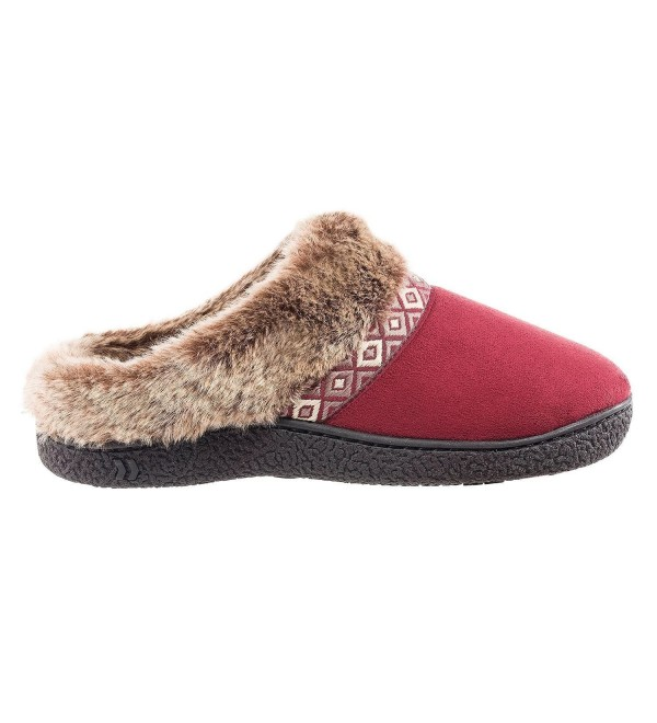 Isotoner Womens Microsued Hoodback Slipper