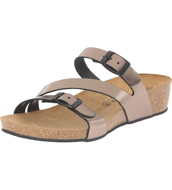 Eric Michael Womens Bronze Sandal