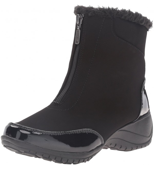 Khombu Womens Alicia Black Patent