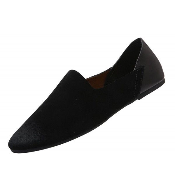VanciLin Leather Fashion Loafers Van89031Black45