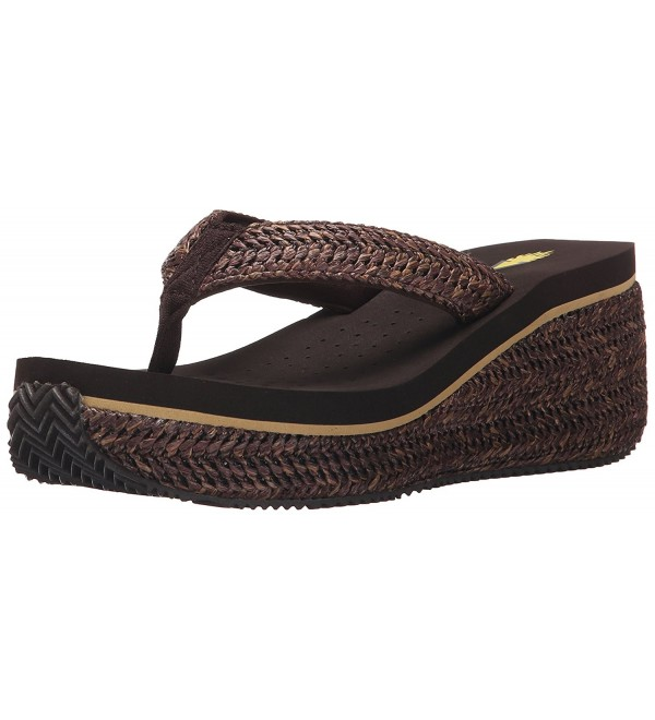 Volatile Womens Marine Wedge Sandal